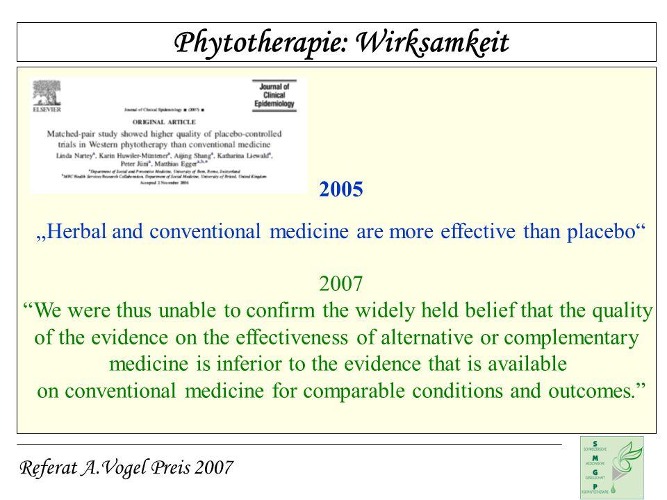 Phytotherapie: Wirksamkeit