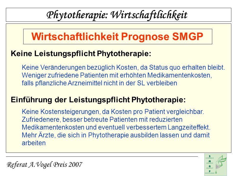 Wirtschaftlichkeit Prognose SMGP