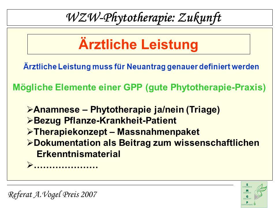 WZW-Phytotherapie: Zukunft