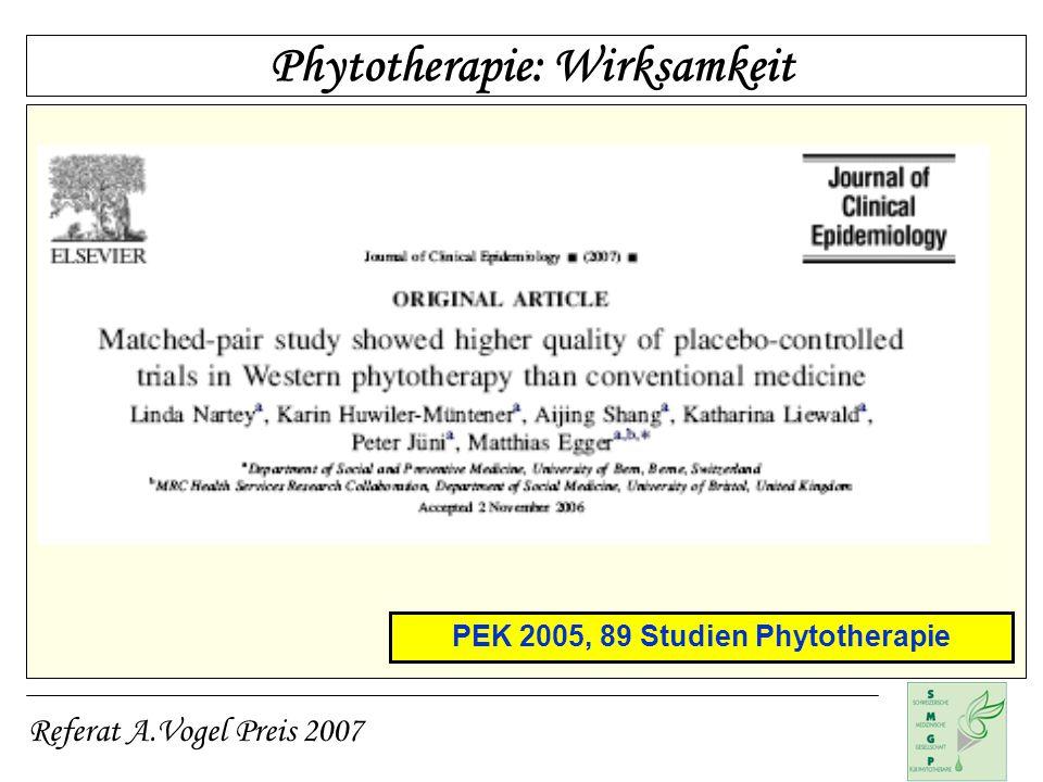 PEK 2005, 89 Studien Phytotherapie