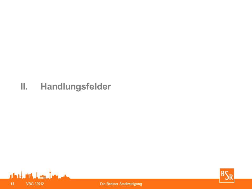 II. Handlungsfelder VBG / 2012 Die Berliner Stadtreinigung