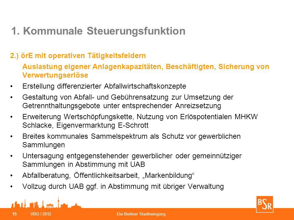 1. Kommunale Steuerungsfunktion