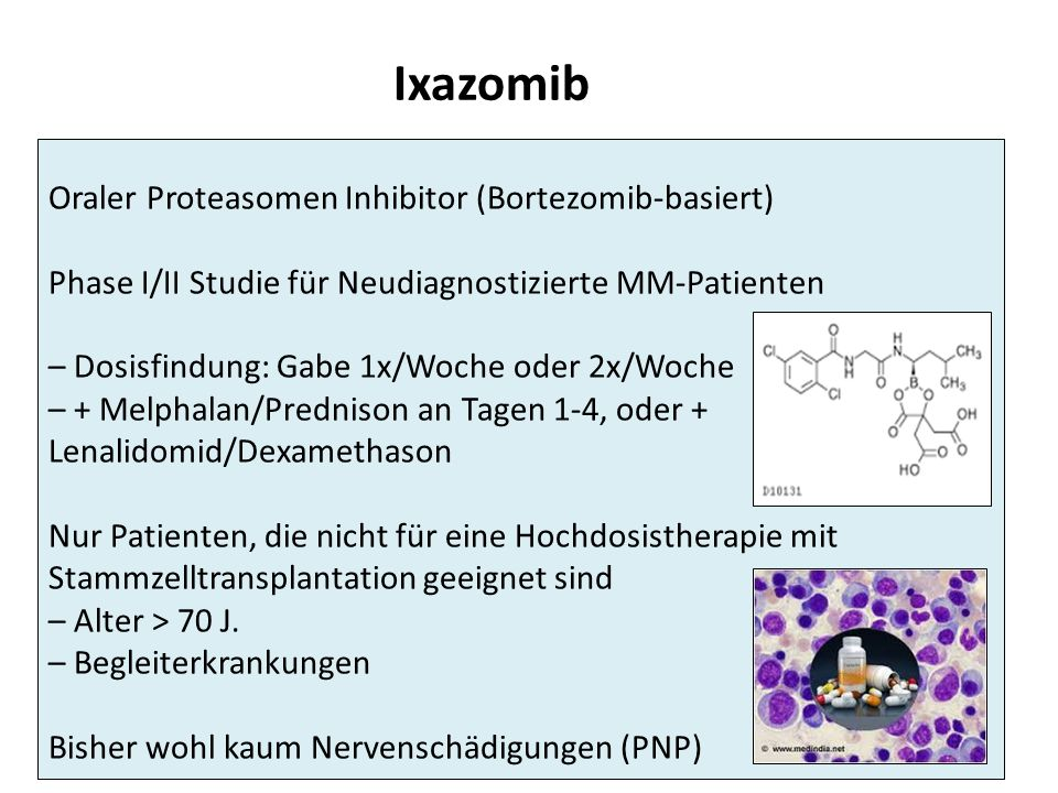 Ixazomib Oraler Proteasomen Inhibitor (Bortezomib-basiert)