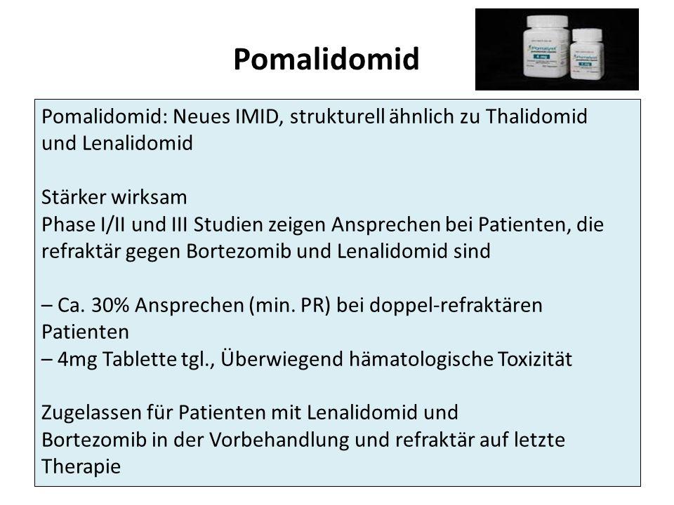 Pomalidomid Pomalidomid: Neues IMID, strukturell ähnlich zu Thalidomid