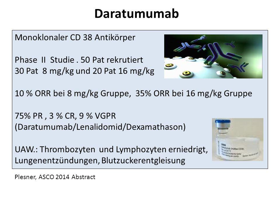 Daratumumab Monoklonaler CD 38 Antikörper