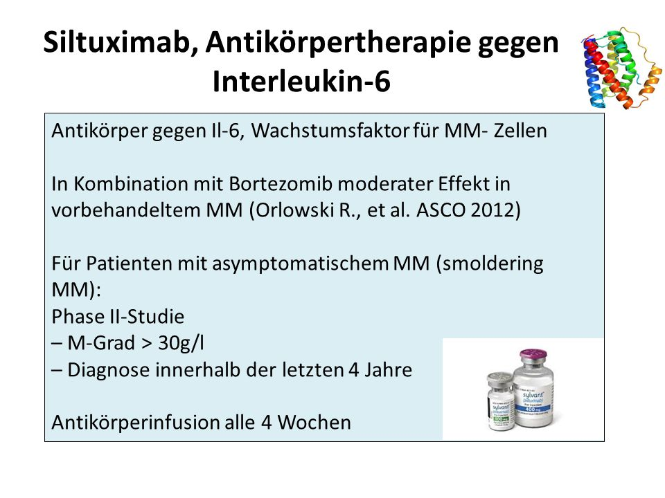 Siltuximab, Antikörpertherapie gegen Interleukin-6