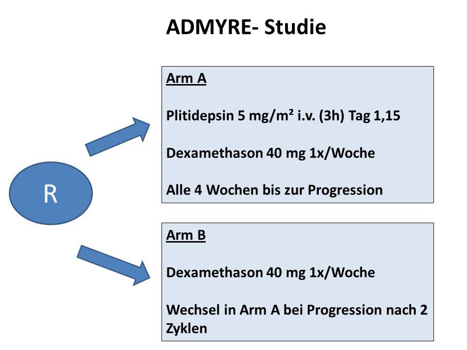 R ADMYRE- Studie Arm A Plitidepsin 5 mg/m² i.v. (3h) Tag 1,15