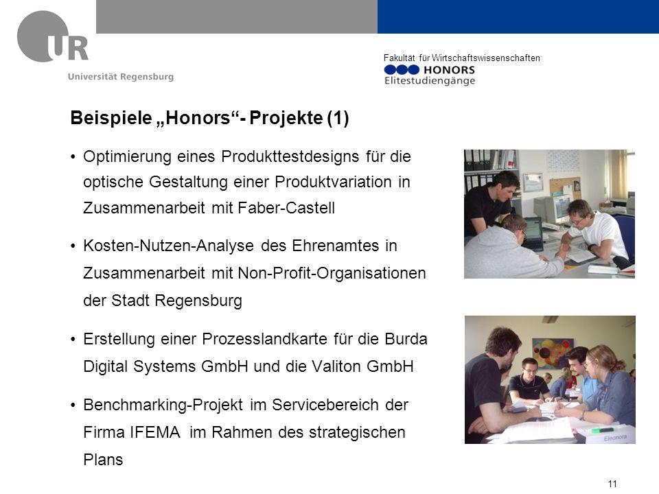 """Beispiele """"Honors - Projekte (1)"""