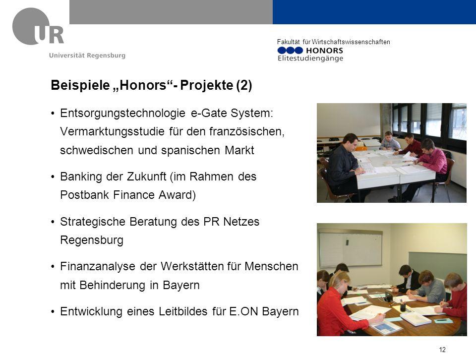 """Beispiele """"Honors - Projekte (2)"""