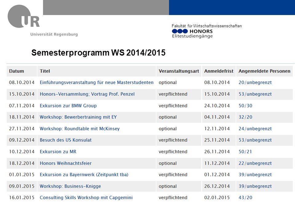 Semesterprogramm WS 2014/2015