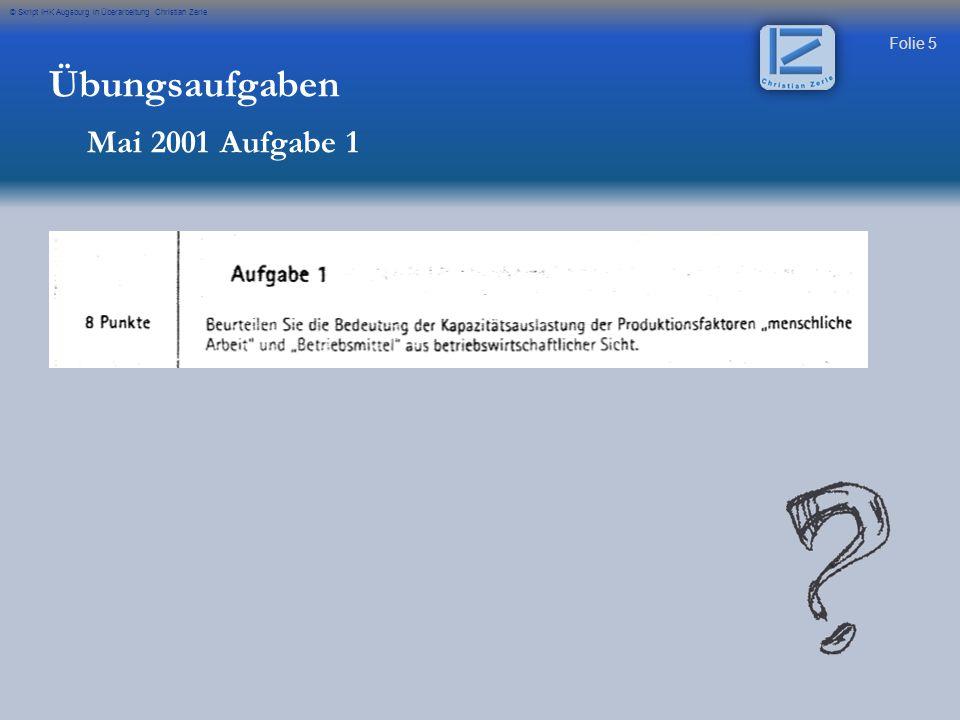Übungsaufgaben Mai 2001 Aufgabe 1