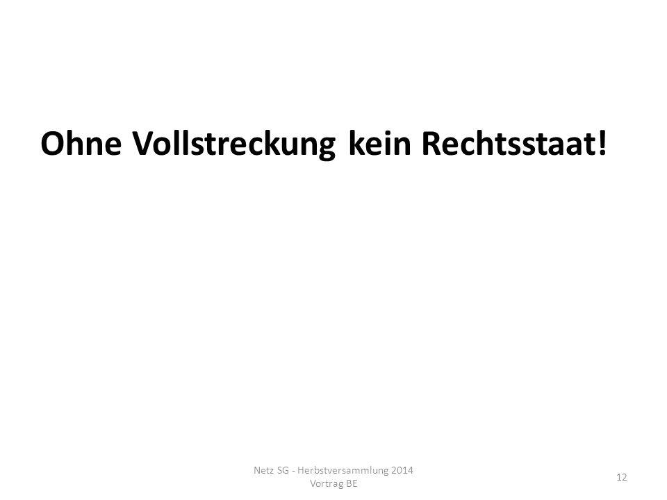 Netz SG - Herbstversammlung 2014 Vortrag BE