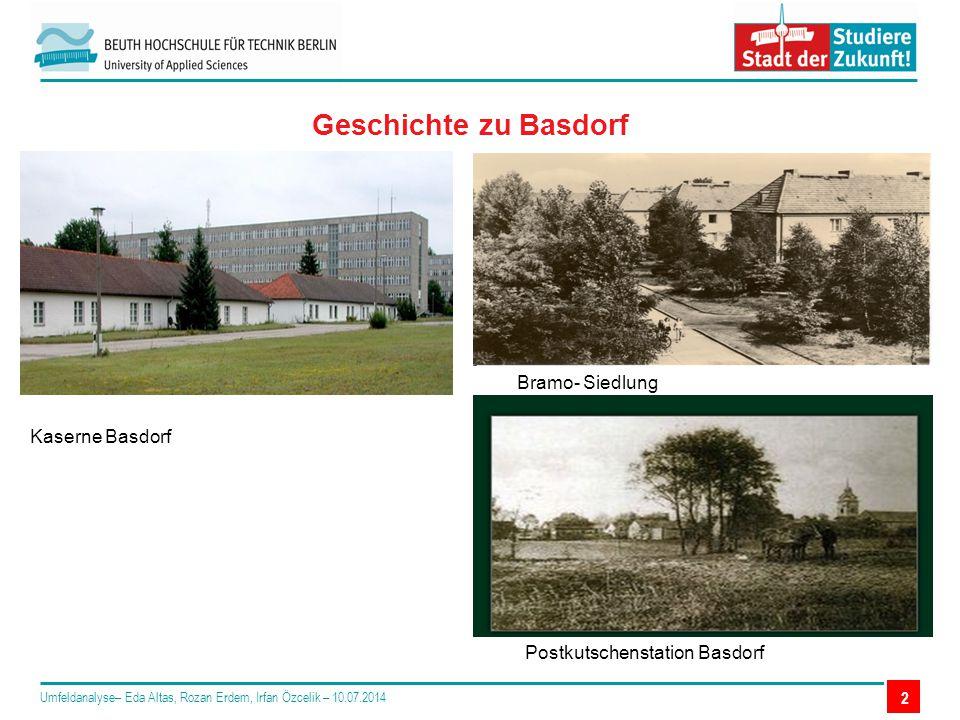 Geschichte zu Basdorf Bramo- Siedlung Kaserne Basdorf