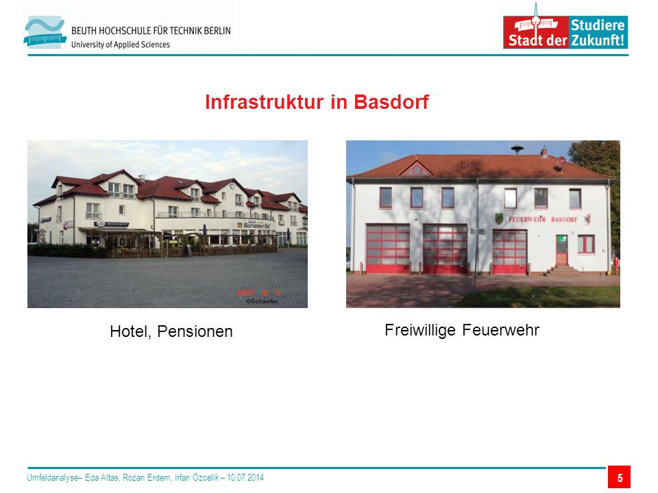Infrastruktur in Basdorf