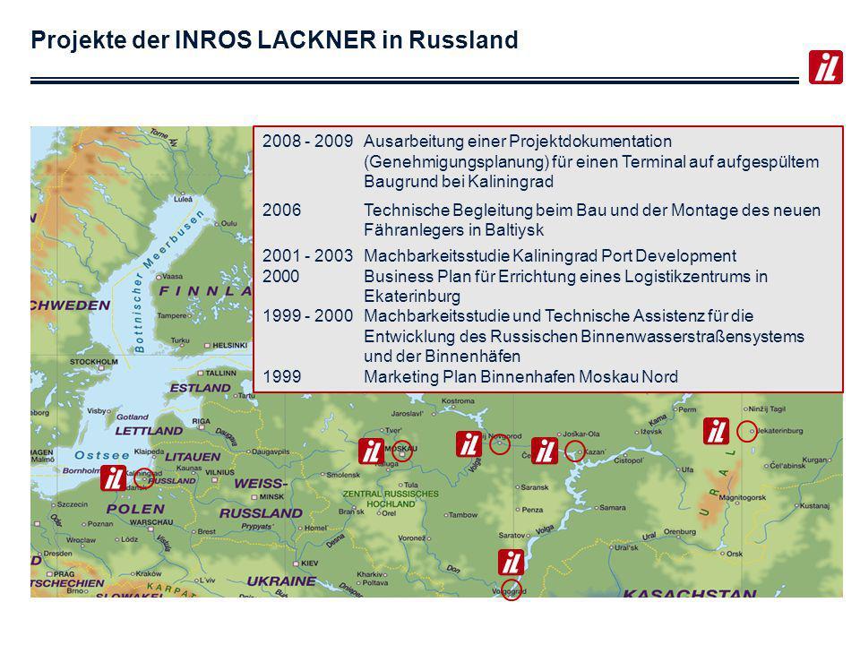 Projekte der INROS LACKNER in Russland
