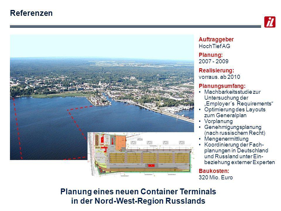 Planung eines neuen Container Terminals