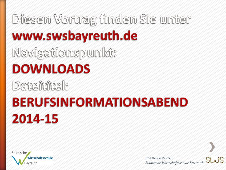 Diesen Vortrag finden Sie unter www. swsbayreuth
