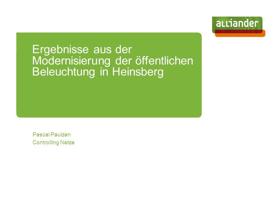 Ergebnisse aus der Modernisierung der öffentlichen Beleuchtung in Heinsberg
