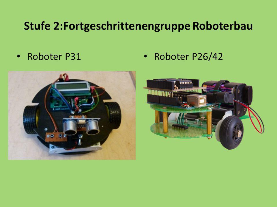 Stufe 2:Fortgeschrittenengruppe Roboterbau