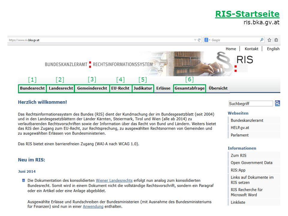 RIS-Startseite ris.bka.gv.at