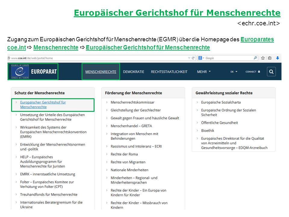 Europäischer Gerichtshof für Menschenrechte <echr.coe.int>