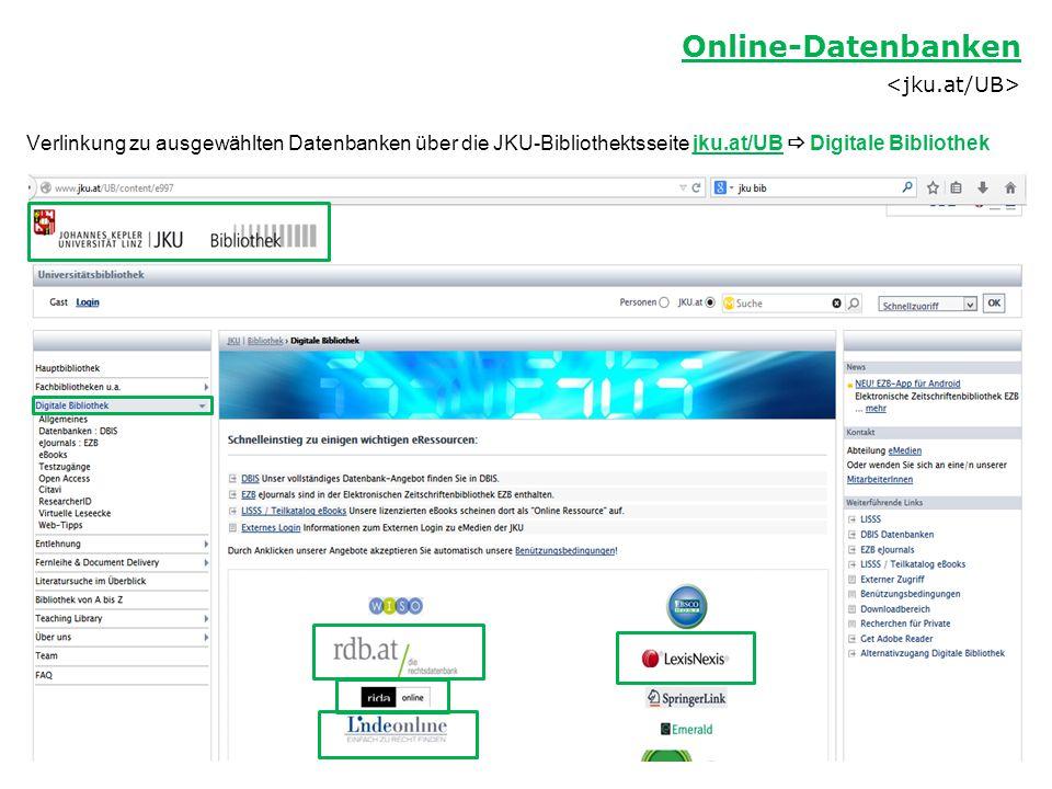 Online-Datenbanken <jku.at/UB>
