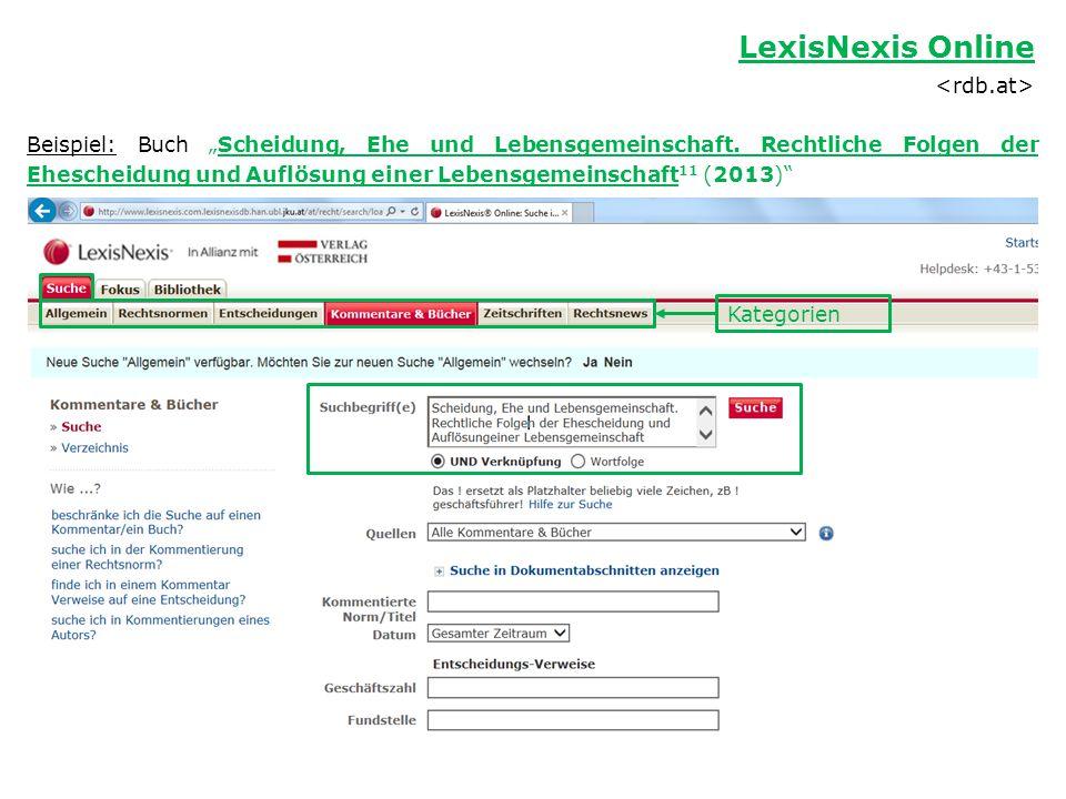 LexisNexis Online <rdb.at>