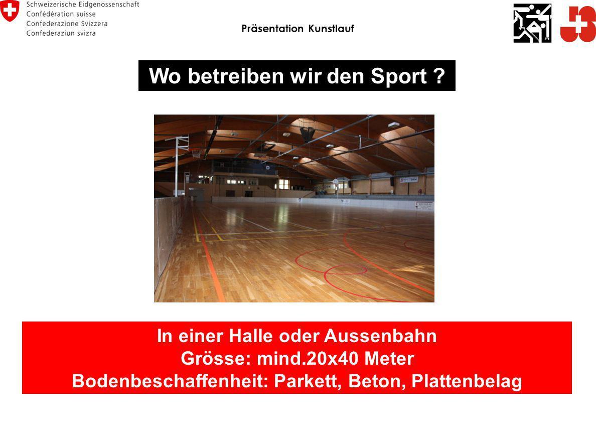 Präsentation Kunstlauf Wo betreiben wir den Sport