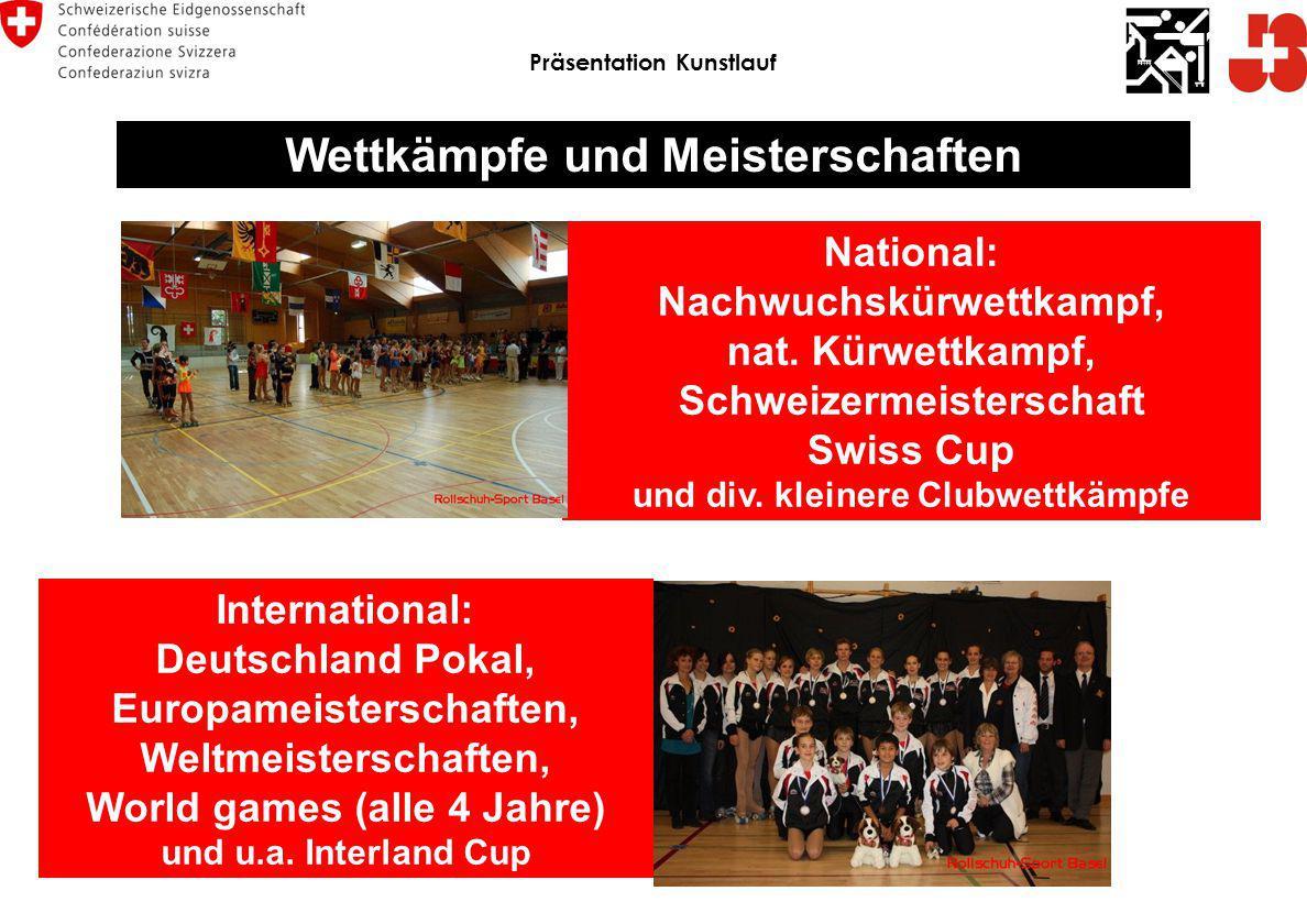 Präsentation Kunstlauf Wettkämpfe und Meisterschaften