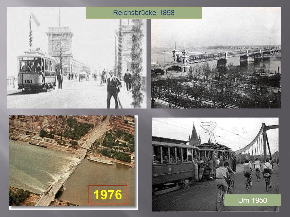 Reichsbrücke 1898 1976 Um 1950