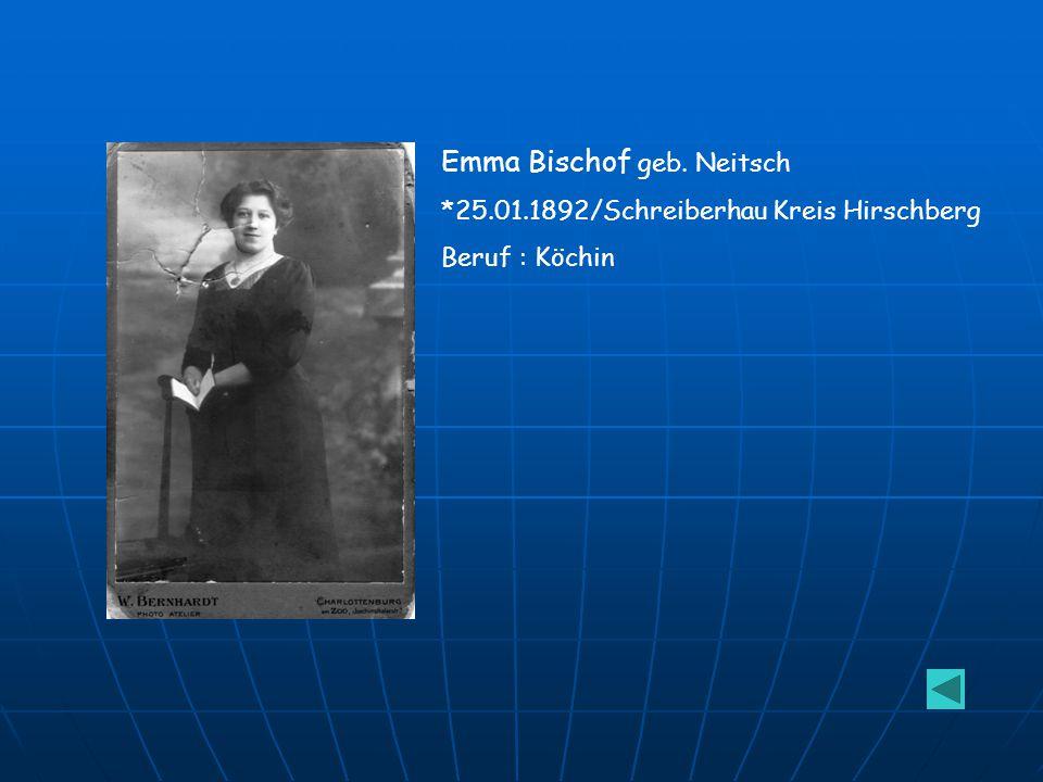 Emma Bischof geb. Neitsch