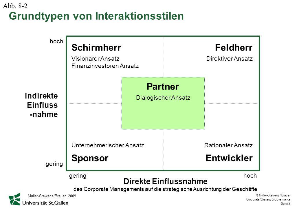 Grundtypen von Interaktionsstilen