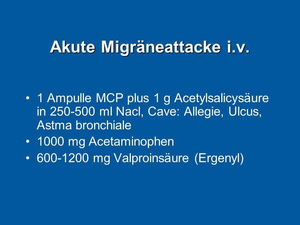 Akute Migräneattacke i.v.