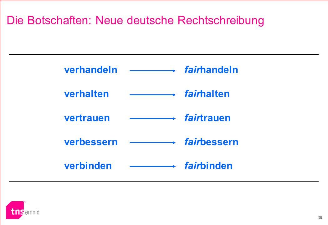 Die Botschaften: Neue deutsche Rechtschreibung