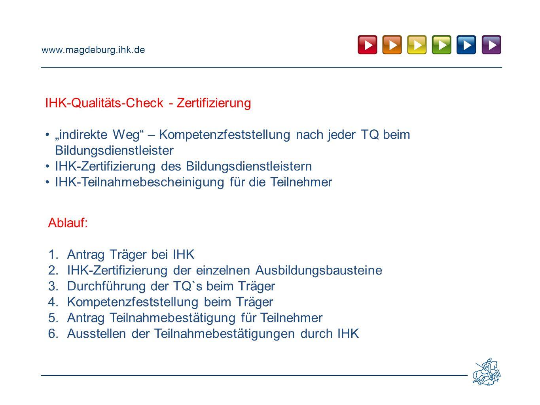 IHK-Qualitäts-Check - Zertifizierung