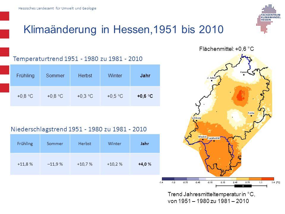 Klimaänderung in Hessen,1951 bis 2010