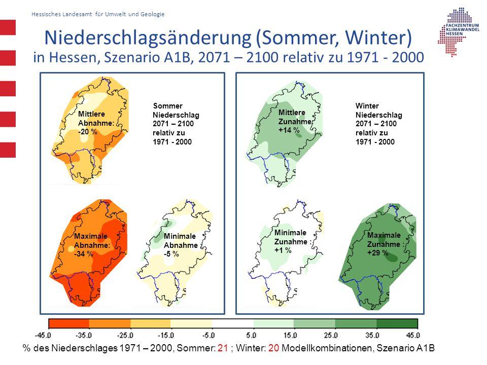 Niederschlagsänderung (Sommer, Winter)