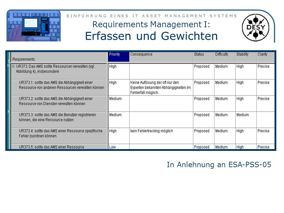 Requirements Management I: Erfassen und Gewichten