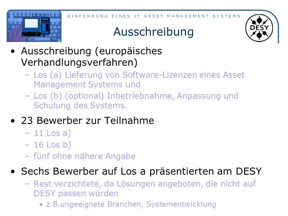 Ausschreibung Ausschreibung (europäisches Verhandlungsverfahren)