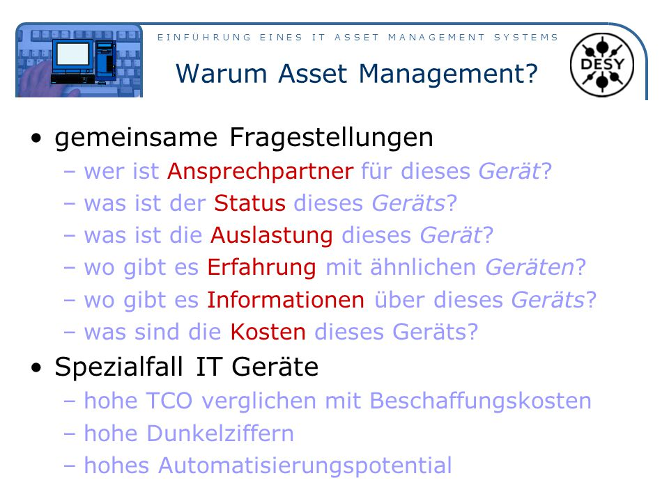 Warum Asset Management