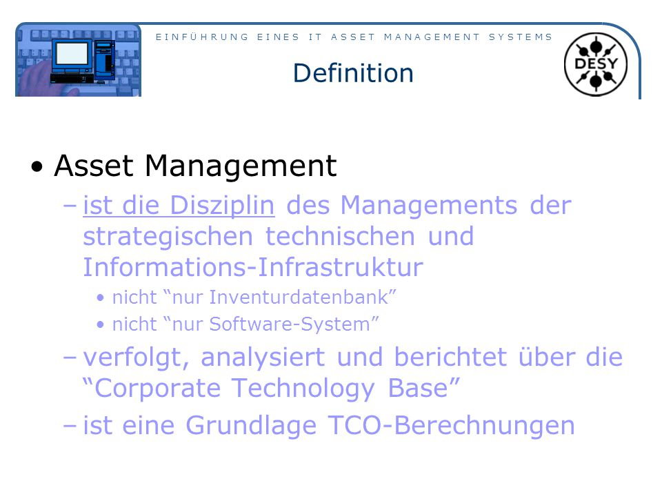 Asset Management Definition