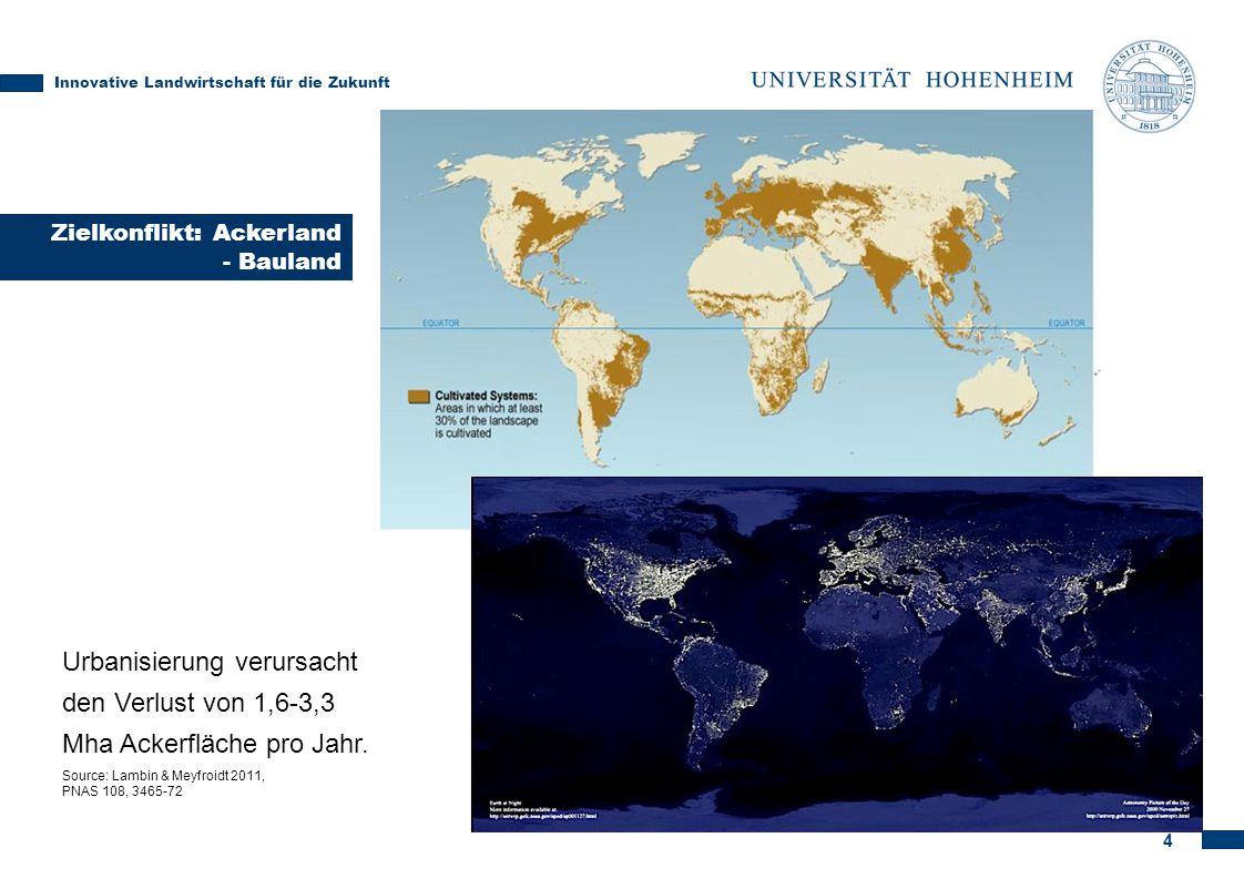 4 Urbanisierung verursacht den Verlust von 1,6-3,3