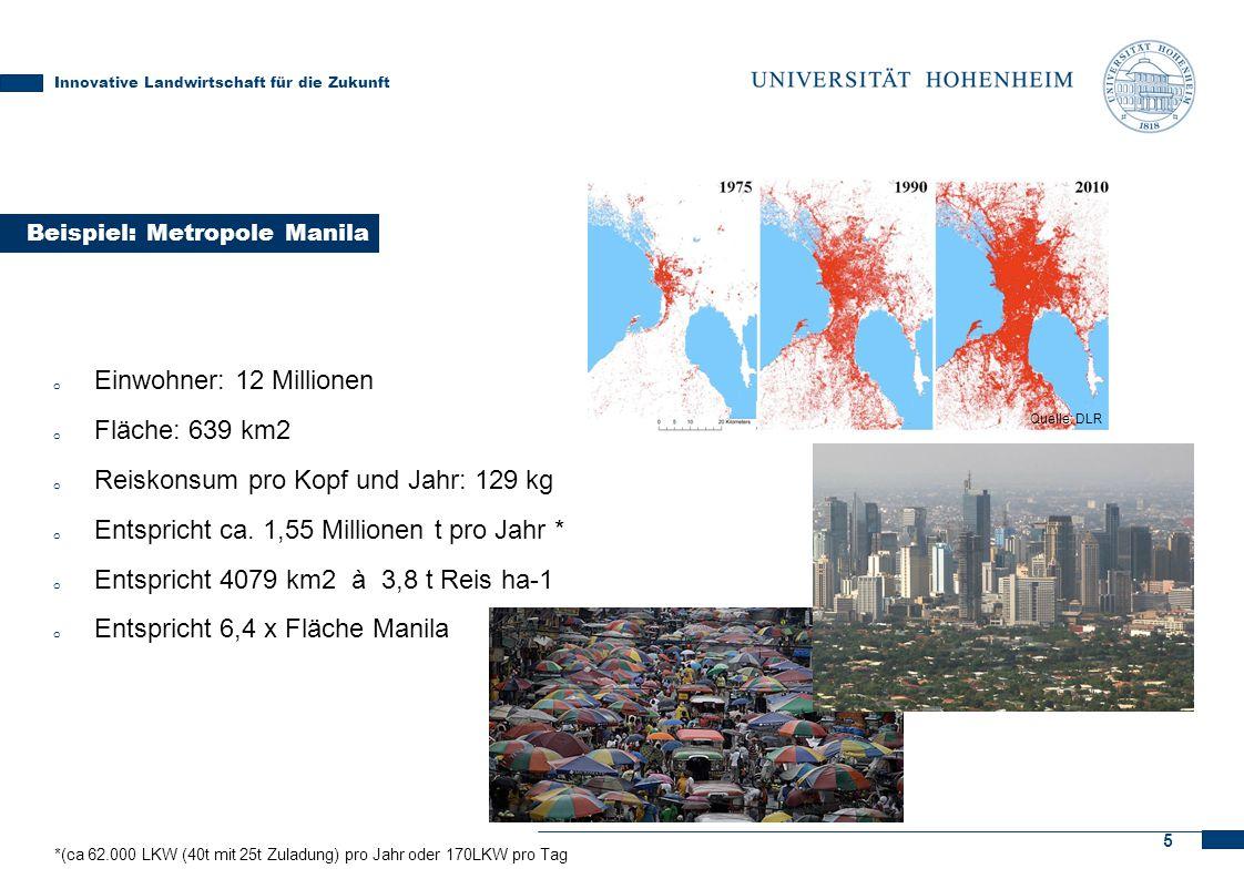 Unter Skyfarming sind lediglich 2583 ha nötig (1,55 Millionen t Reis dividiert durch 600t). Hinzu kommt die notwendige Fläche für Windpark ≈ 10ha bzw. PV-Anlage ≈30ha pro Skyfarm