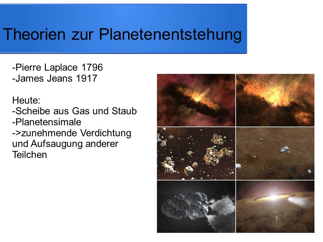 Theorien zur Planetenentstehung