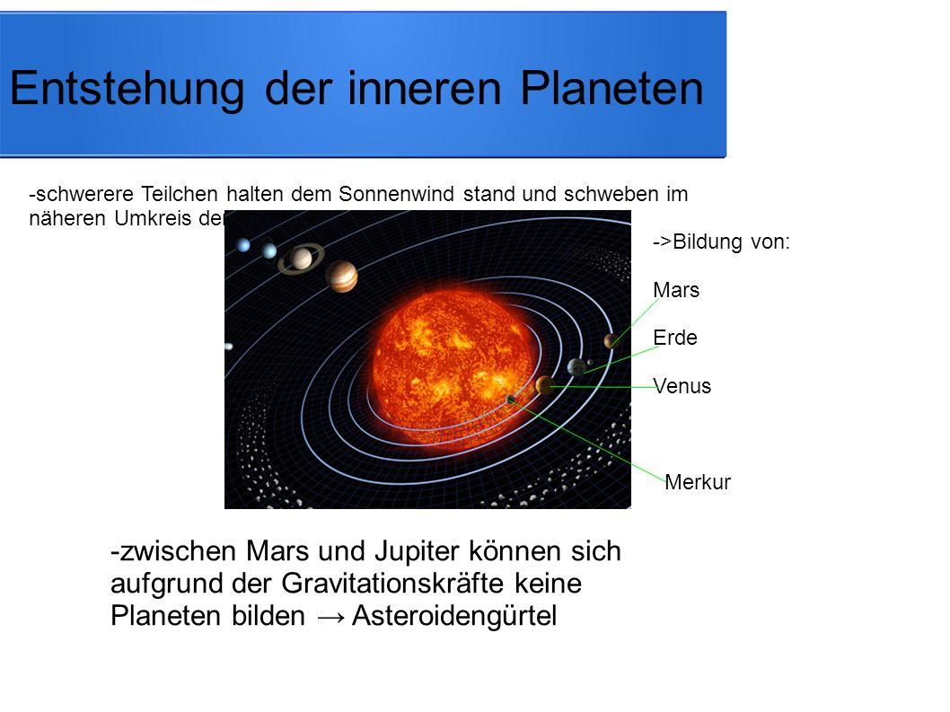 Entstehung der inneren Planeten