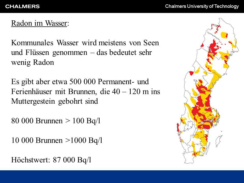 Radon im Wasser: Kommunales Wasser wird meistens von Seen und Flüssen genommen – das bedeutet sehr wenig Radon.