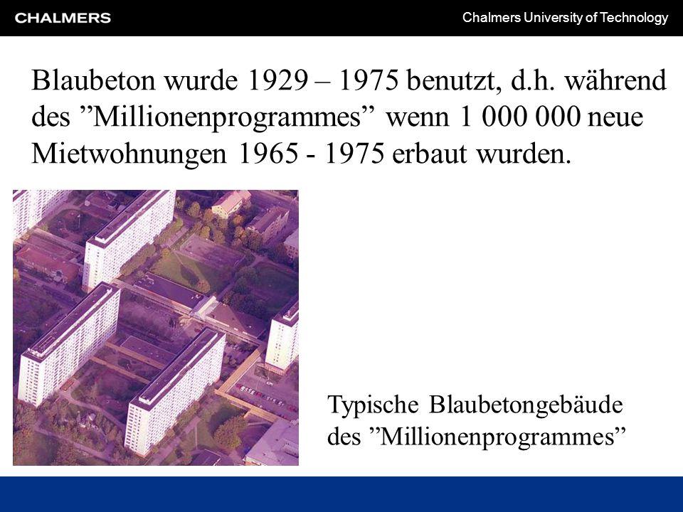 Blaubeton wurde 1929 – 1975 benutzt, d. h