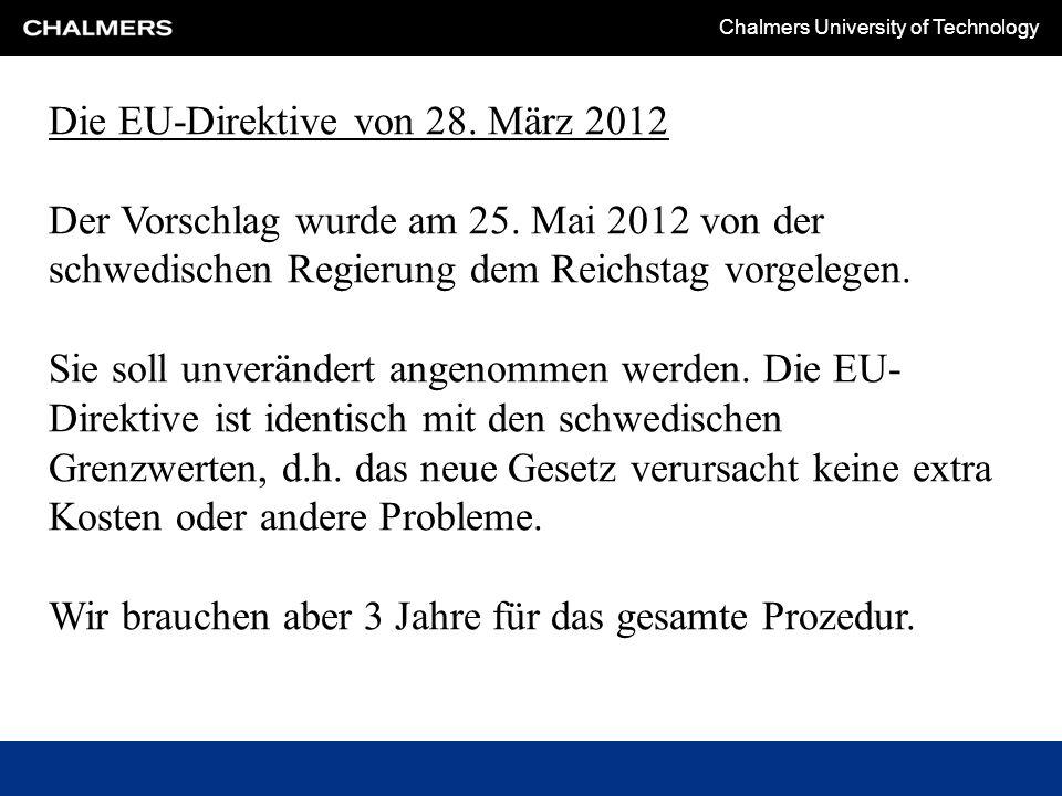 Die EU-Direktive von 28. März 2012