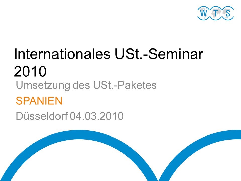 Internationales USt.-Seminar 2010