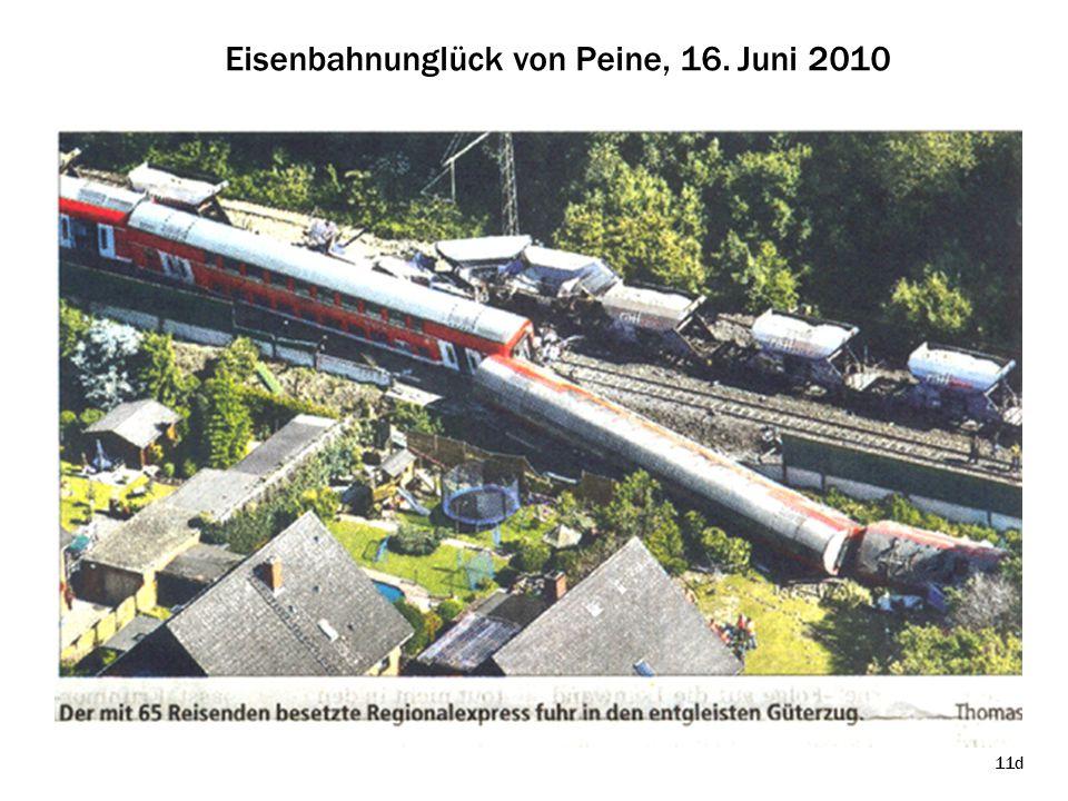 Eisenbahnunglück von Peine, 16. Juni 2010